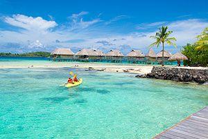 Kayaking to the Coral Gardens in Bora Bora