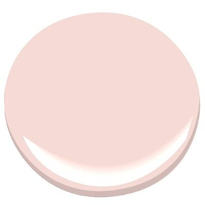 Spring Blossom 2172-70 from Benjamin Moore is a classic pale pink paint color - looks great with a creamy white trim - very shabby chic