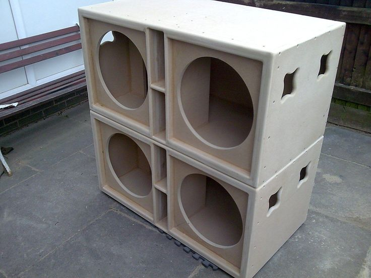 Details About Pair Of Double 15 Quot Bass Bins Speaker Boxs