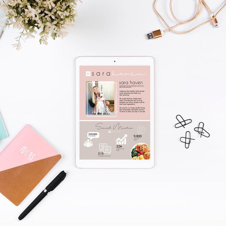 Design, Media Kit, Influencer, Food Blogger, Social Media