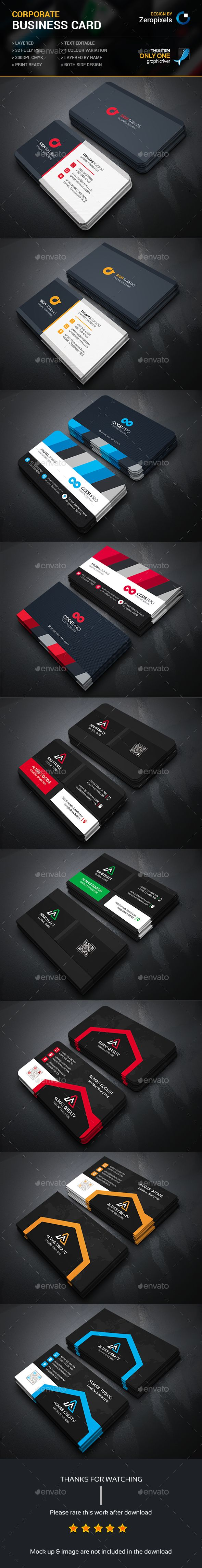 Business Card Template PSD Bundle. Download here: http://graphicriver.net/item/business-card-bundle/15773718?ref=ksioks