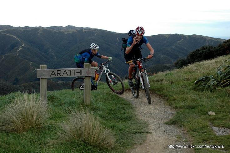 Makara Peak riding with the teenagers!