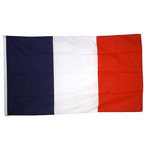 Supportershop France Drapeau de nation avec 2 œillets métalliques Bleu/Blanc/Rouge 1,50 x 0,90 m: Drapeau France 1.50 x 0.90 m Drapeau…