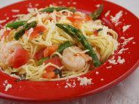 Angel Hair Pasta with Shrimp, Asparagus and Basil