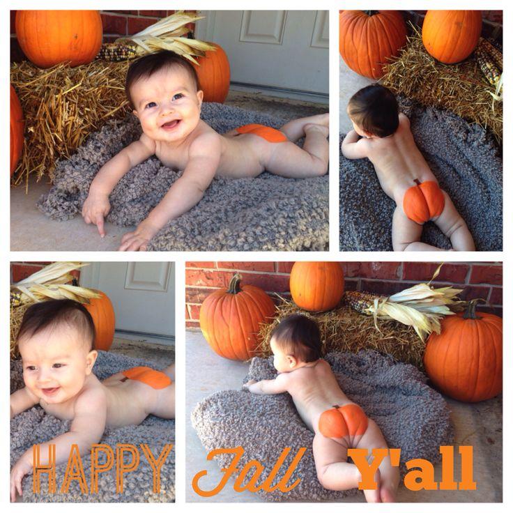 Baby boys pumpkin butt for the fall!