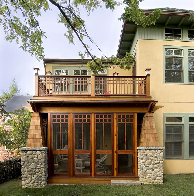 A Craftsman Screened Porch by PAGENSTECHER GROUP | Sustainable Architecture and Building Design I like the details on the porch and wonder if we can add something on top (not a balcony just decorative)                                                                                                                                                      More