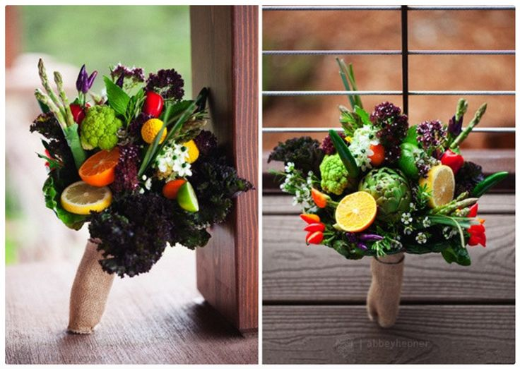 Vegetable bouquet | Farm to Table Wedding | Fruit wedding ...