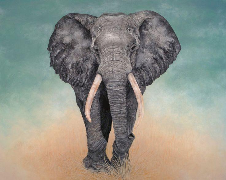 """Elephant (Painting),  2x77x97 cm by Tracy De Sousa Peinture à l'acrylique sur chassis entoilé en coton et de format 97x77cm (sur mesure) et d'épaisseur 2cm. Titré: """"Elephant"""" il n'existe qu'un seul exemplaire, fais main, signé et vernis. Certificat d'authenticité à l'appuie. Si vous souhaitez voir l'avancé de la toile: 2014/01/mon-elephant.html ou le speed painting (vidéo): watch?v=mjJNKyTv9nk"""