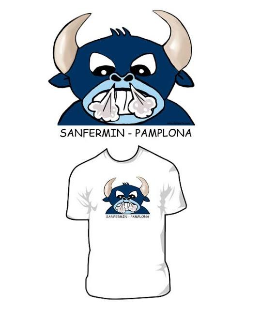 "Diseño camiseta ""Toro"" San Fermín - Pamplona 15€ www.beatrizripodas.com"
