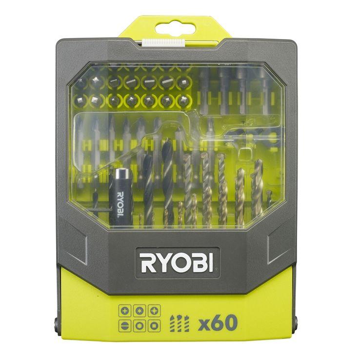 Find Ryobi Drill & Driving Set 60pc at Bunnings Warehouse. $39