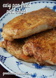Easy Pan-Fried Pork Chops
