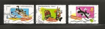 France, 2009 Set Of 3 Used - bidStart (item 35007113 in Stamps, Europe, France & Colonies, France)
