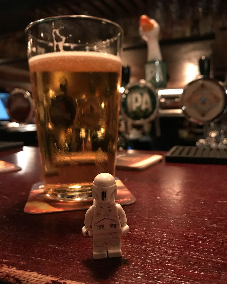 Enjoying #pint of #gooseipa #pub #beer #liquid #liquidbar #luxembourg #architecture  #journey #nofilter #stormtrooper #starwars #lego #legostarwars #legominifigures #instalego #lego365 #adventures #super_lego_channel #instalego #legolov3rs