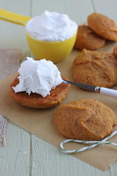 Pumpkin Whoopie Pies @dessertfortwo