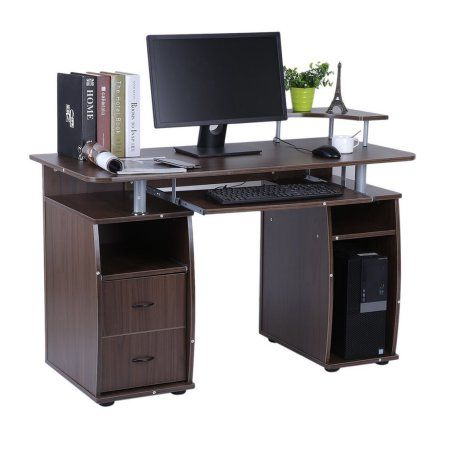 Office Computer Desk Work Station Home Table With Elevated