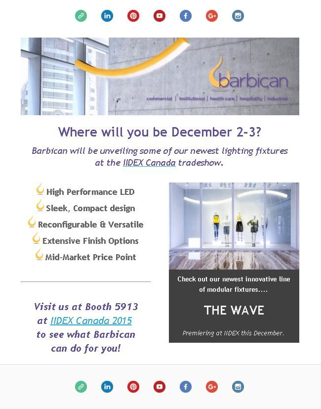 Join us at IIDEX where we'll be unveiling our newest innovative line of modular fixtures, the Wave.