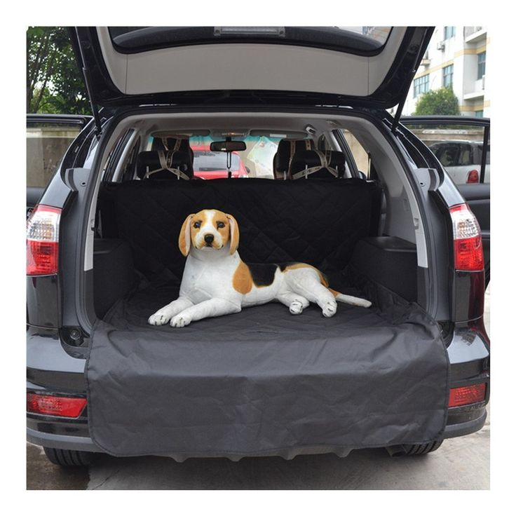 SWM Cargo Liner Waterproof Pet Dog Car Seat Cover Extra Bumper Flap Protector Protects Back Seats From Fur Mud Scratches For Cars SUVs And Trucks In