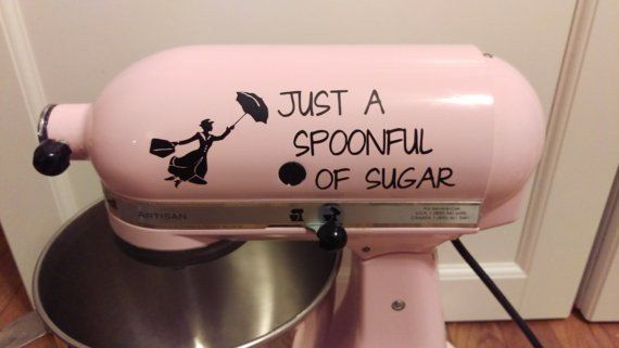 Spoonful of Sugar Kitchenaid Mixer Vinyl Decal Sticker Dessert Mary Poppins - Living Word Designs, Inspirational Home Decor