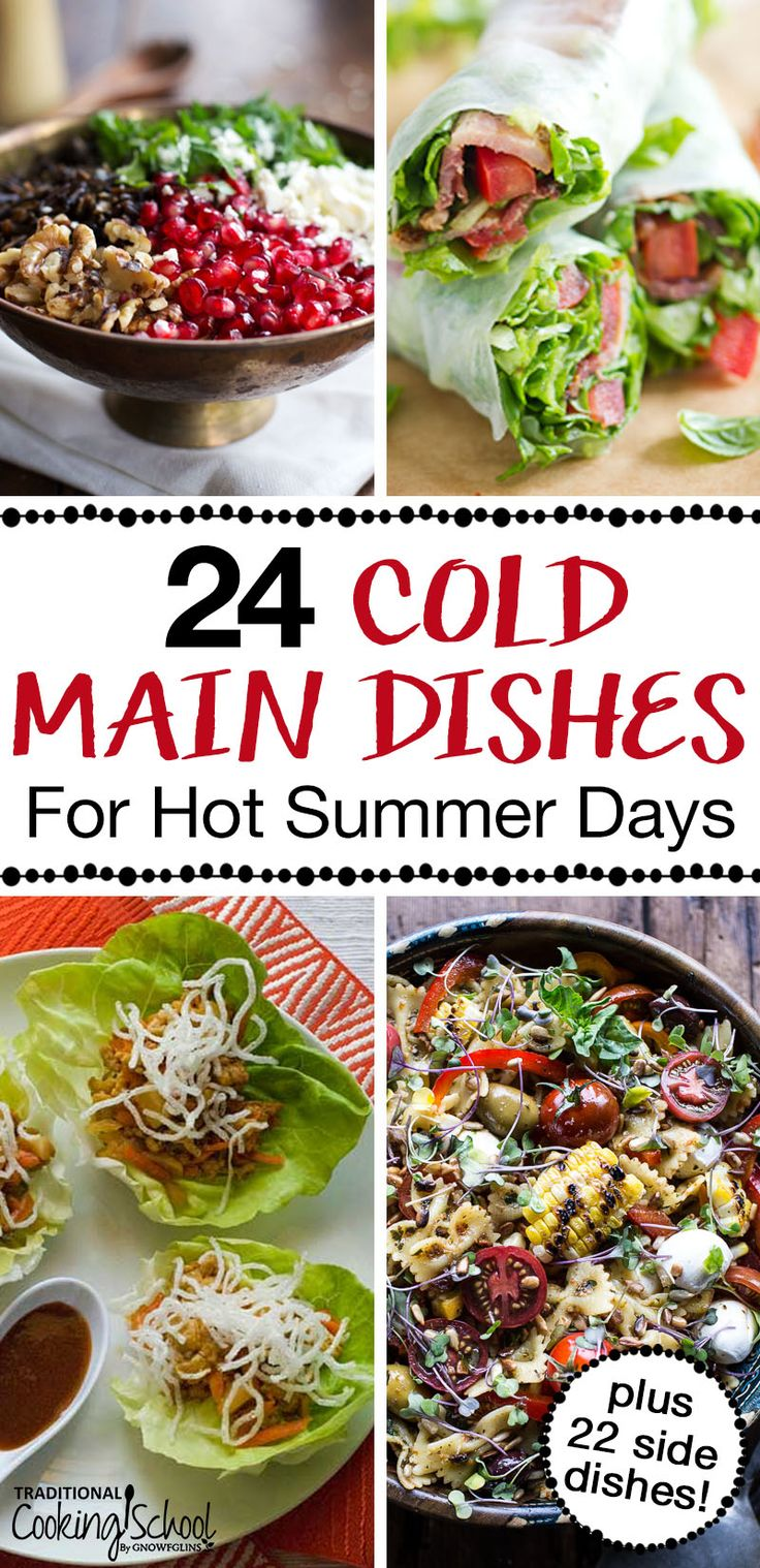 50 Cold Main Dishes Amp Cold Side Dishes For Hot Summer Days Easy Summer Dinners Healthy Summer