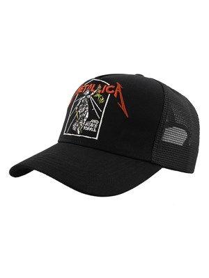 432066f0 Metallica - Justice Black Trucker Cap in 2019   Metallica   Metallica,  Black, Cap