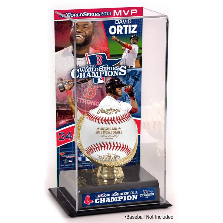 David Ortiz Boston Red Sox Fanatics Authentic 2013 MLB World Series Champions MVP Gold Glove Baseball Display Case