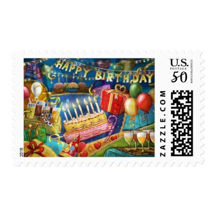 #happy birthday collage postage - #birthday #gifts #giftideas #present #party