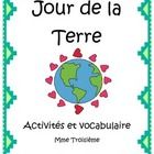 """1) Vocabulaire These vocabulary cards are designed to help the beginning French learner. The theme of these vocabulary cards is """"Jour de la Terre""""...."""