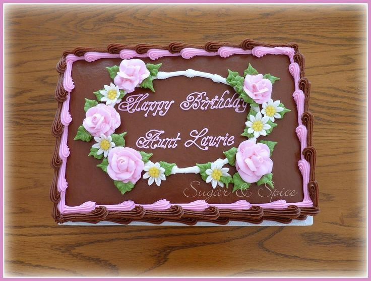 Birthday butter cream sheet cakes | Chocolate Floral Sheet Cake