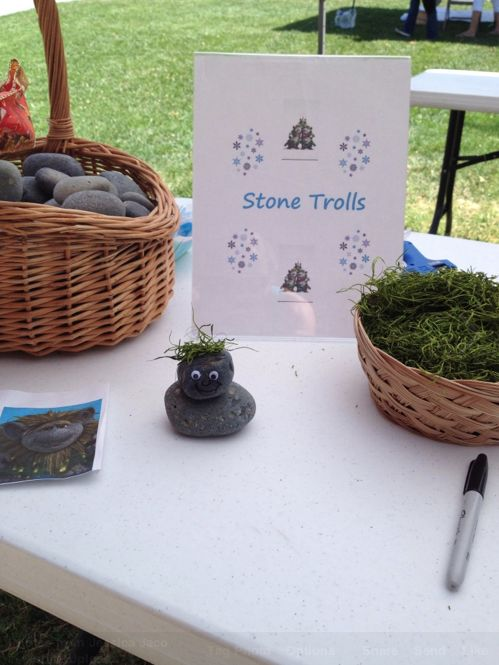just a picture of a cute idea... make your own Stone Trolls from Frozen