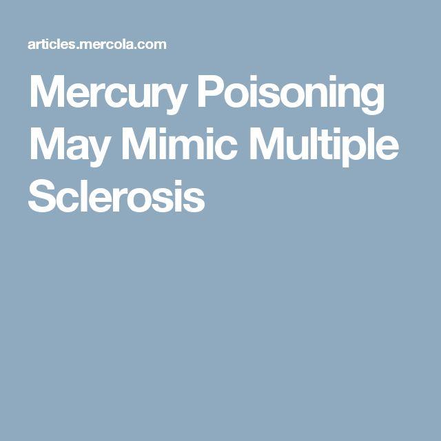 Mercury Poisoning May Mimic Multiple Sclerosis