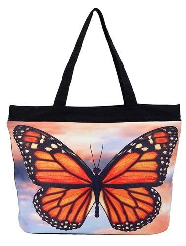 Sac Déclaration - Papillon Sur Zinna Rose Par Vida Vida 06BIQEV