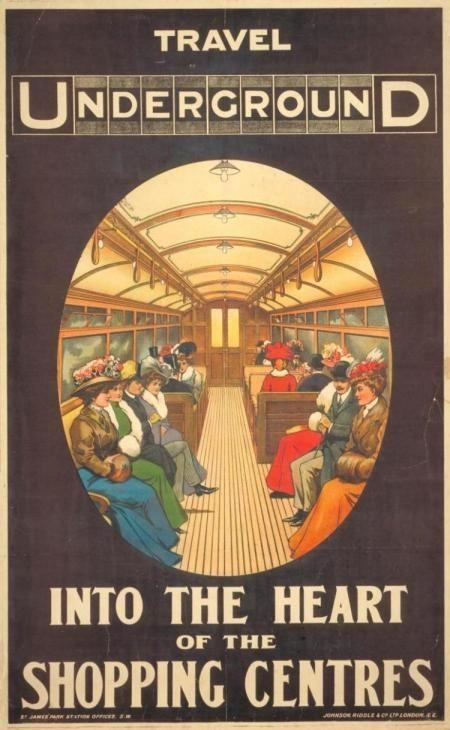 Advertisement for the London Underground, 1908