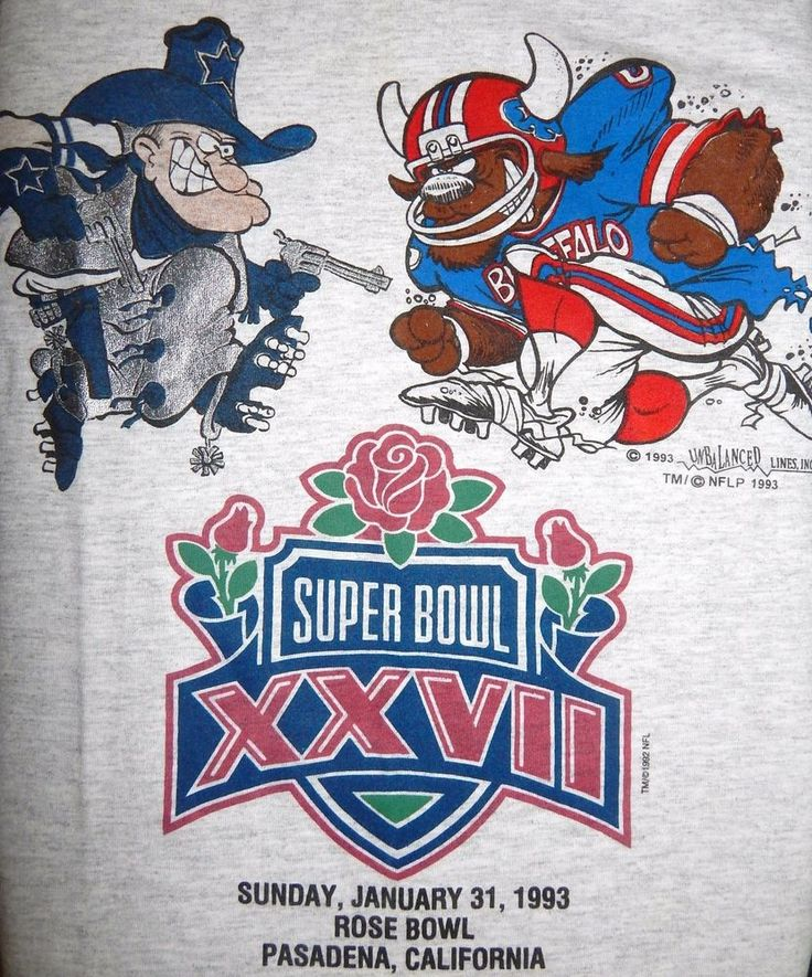 Vintage 1993 Super Bowl XXVII Cowboys vs Bills T-Shirt