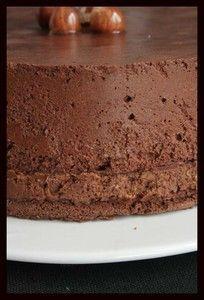 Gâteau croustillant et mousseux tout chocolat