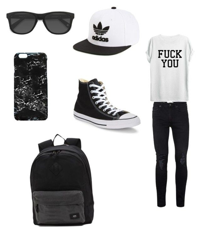 """""""Zach"""" by crushingholls on Polyvore featuring Topman, Converse, adidas Originals, EyeBuyDirect.com, Rianna Phillips, Vans, men's fashion and menswear"""