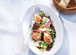 A salad of lentils, figs and Gruyère AOP | Le Gruyère AOP
