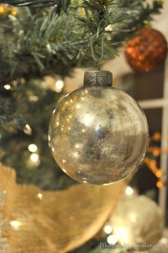 DIY Mercury Glass Ornaments - The Frugal Homemaker