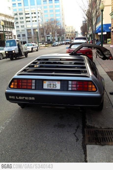 Is that a DeLorean?