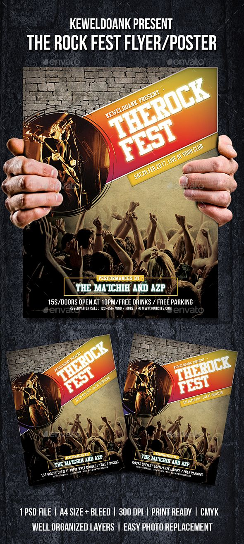 The Rock Fest Flyer / Poster