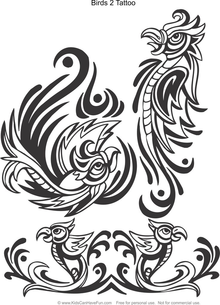 ducks tattoos coloring pages - photo#30