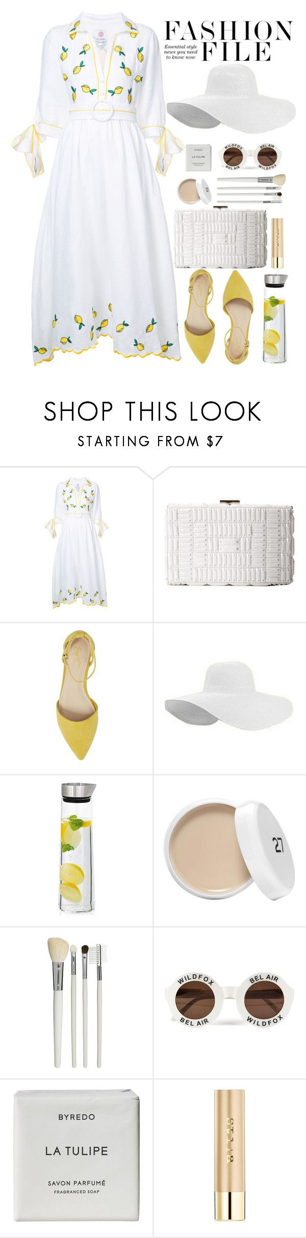 """Lemon Dress"" by crblackflag ❤ liked on Polyvore featuring Gül Hürgel, BCBGMAXAZRIA, Seychelles, blomus, Cath Kidston, Wildfox, Byredo, Stila, yellowshoes and lemondress"