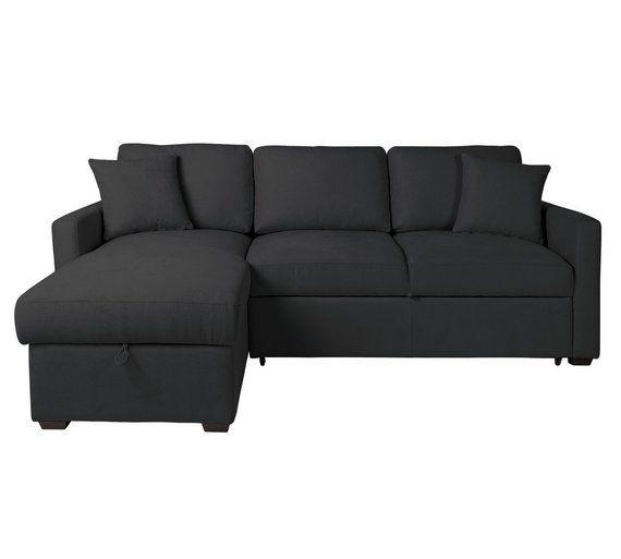 buy home reagan fabric left corner chaise sofa bed charcoal at argosco