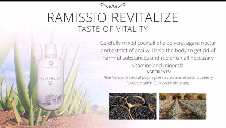 We can now go straight to the first product that perfectly cleanses your body. Ramissio REVITALIZE drink is a combination of several rare plants - Aloe Vera pulp, Agave and Acai. A balanced combination of components has a positive effect on internal organs, particularly the digestive tract. The drink contains specific polysaccharides, enzymes and vitamins which contribute to natural detoxification and purification of the organism. Ramissio REVITALIZE is a great help when you want to lose…