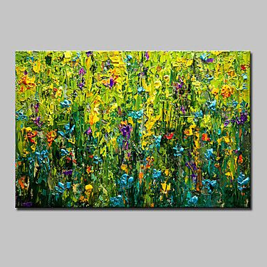 Hand+Painted+Modern+Abstract+Flowers+Oil+Painting+On+Canvas+Wall+Art+Picture+With+Stretched+Frame+Ready+To+Hang+–+AUD+$+95.80