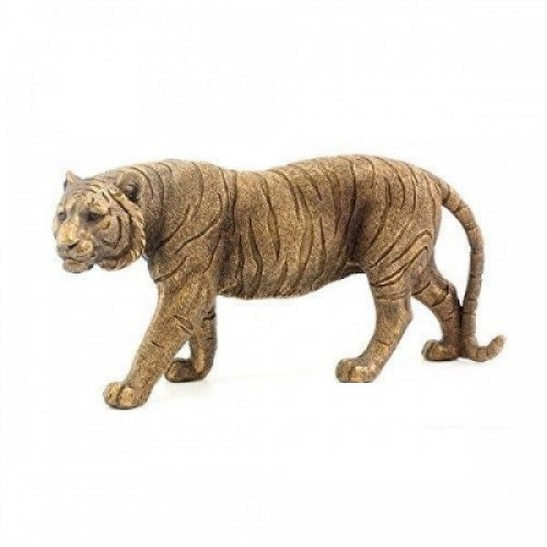 Collection Boxed Standing Tiger Bronze Art Jungle Plastic Collection Box Leonardo Collection Bronze