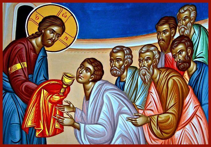 Όταν κοινωνούμε....  Είναι συγκινητική και συνάμα εντυπωσιακή η σκηνή του πλήθους των πιστών που ανταποκρίνονται στο κέλευσμα του ιερέα: ''Μετά φόβου Θεού πίστεως και αγάπης προσέλθετε'' και προσέρχονται με πίστη και πόθο να κοινωνήσουν των Αχράντων Μυστηρίων. Καθώς προσέρχονται αθόρυβα ο ένας μετά τον άλλον, ο λειτουργός λέει: ''Μεταλαμβάνει ο δούλος του Θεού (δείνα) το Σώμα και το Αίμα του του Κυρίου και Σωτήρος ημών Ιησού Χριστού εις άφεσιν αμαρτιών και εις ζωήν αιώνιον'' Περισσότερα...