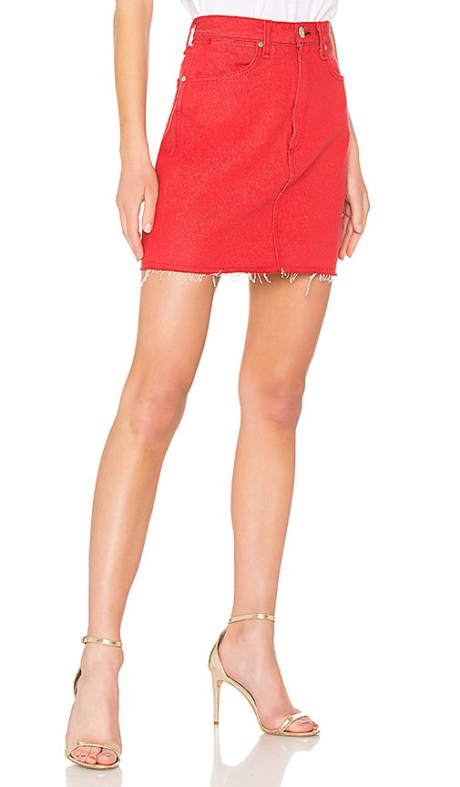 da2e320271 rag & bone/JEAN Moss Skirt in Bull Red | REVOLVE | Elena's ...