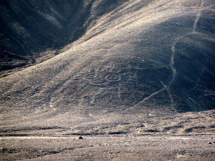 Même à terre nous pouvons voir certains dessins des lignes #nazca #perou