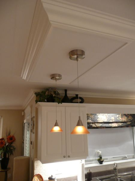 Kitchen island ceiling light box diy home projects for Diy kitchen light fixtures