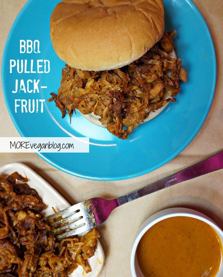BBQ Pulled Jackfruit #vegan #glutenfree option | www.MOREveganblog.com